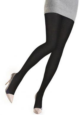 Gerbe Luxurious & Plushy Dark Black Tights