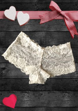 New Summer Seamless White Floral Lace Boyshort
