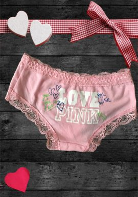 Victoria's Secret Love Pink Printed Luxurious Panty