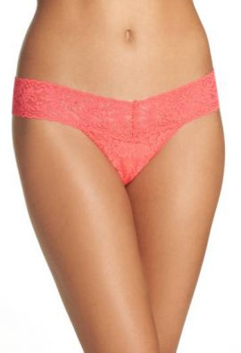 Bassoni Full Floral Lace Thong Panty