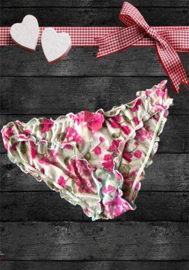 Hunkemoller Full Floral Print Sheer Net Ruffle Panty