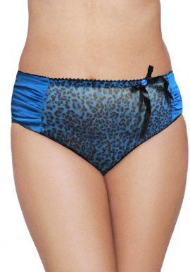La SENZA Blue Animal Print Luxurious Ladyshort