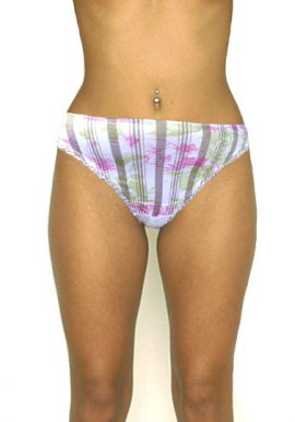 Buy Now- Antinea Sexy Lace Back Floral Print Thong Panty. Snazzyway.