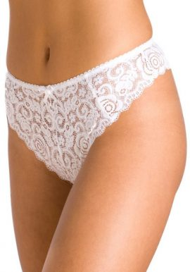 Ladies Erotic White Lace Thong Panty