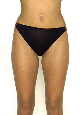 Shop Now- Black Double String Waistband Thong Panty. Snazzyway