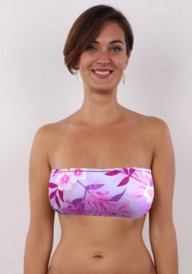 Shop Now- Floral Pinkish Strapless Bra. Snazzyway.