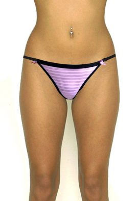 Mystyle Classy Pink Black Soft Mesh Touch String Thong