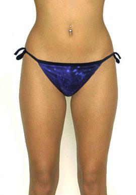 Limited Galaxy Printed Side Tie Beach Bikini Bottom