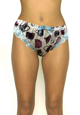 Buy Now-Yamamay Gear Printed Satin Lace Hipster Panty