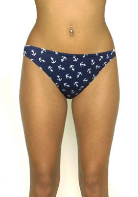 Best Deal- Wavezone Blue Anchor Print Bikini Bottom- Snazzyway