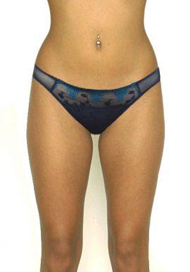 Passionata Fishnet Black Embroidery Front Bikini Bottom