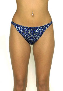Bardut Side Elance String Animal Print Bikini Bottom