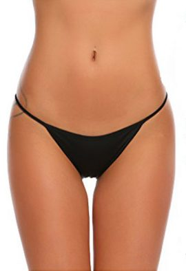 Black Georgette G-String In XL