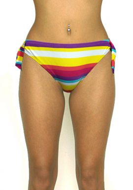 F&F Reversible Side Tie Multicolored Swim Bottom