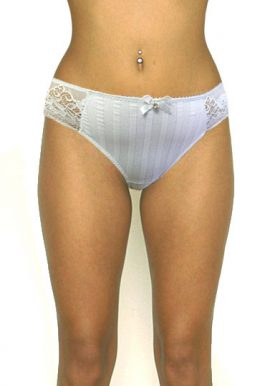 Fabulous Floral Embroidery Attached Luxurious Pendant Brief
