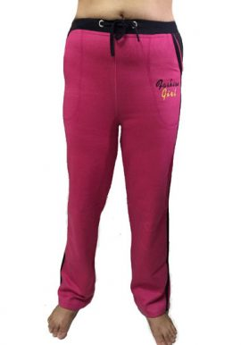 Fashion Girl Pink Relaxed Fit Track Pant