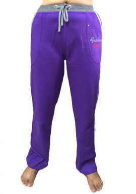 Fashion Girl Violet Relaxed Fit Track Pant