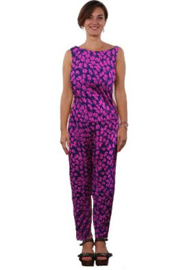 Only Elephant Print Zip Back Sleeveless Jumpsuit
