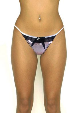 Playboy Luxurious Rabbit Pendent New Baby Pink Lace G-String