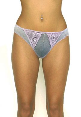 Women's Pink Fishnet Lace Side Frill Sexy Thong