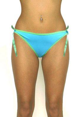 Women's Tie-Side Knot Thong Bikini Bottom Swim Brief