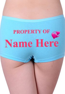 Property Of Named Customize Cotton Boyshort Panty