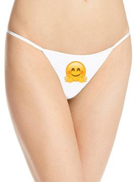 Customized Emoji Print Cotton String Thong Panty