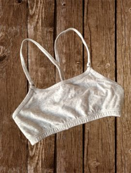 Fruit Of The Loom Grey Cotton Pullover Style First Bra