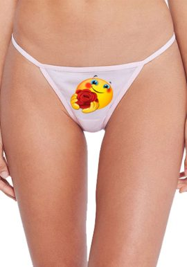 Personalized Your Emoji Cotton String Thong Panty