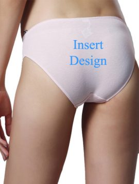 Insert Design- Customize Mid Rise Cotton Bikini Panty