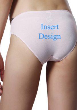 Insert Design- Customize Mid Rise Cotton Bikini Panty