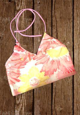 GapKids Flowers Print Ruffled Halter Beach Crop Top