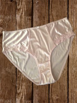 Baby Pink Side Floral Design Plus Size Bikini Panty