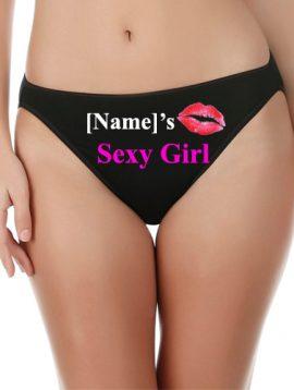 Customize Sexy Girl Cotton Mid Rise Underwear