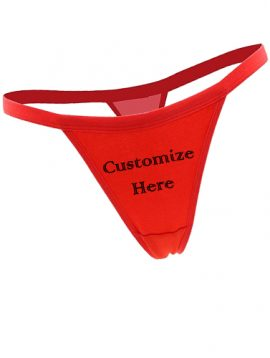 Custom Design Sexy Red Comfy Cotton String Thong