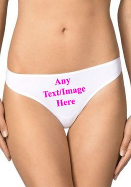 Personalized Custom Cotton Bikini Underwear