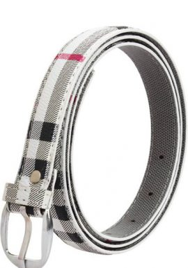 hClassic Check Printed Casual Ladies Belt