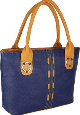 Daily Used Blue Canvas Tote Shoulder Handbag