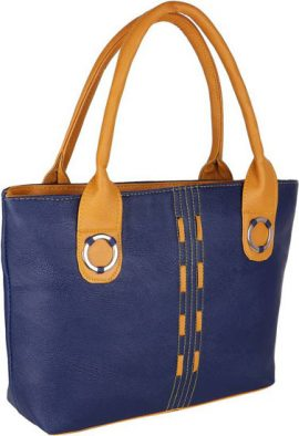 Daily Used Blue Canvas Tote Shoulder Handbag