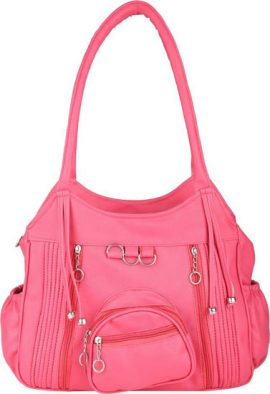 Female Perfect Pink Colored Satchel Handbag