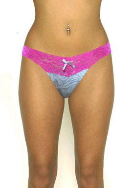 Honeydew First Kiss Pink Lace V Cut Thong