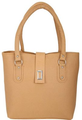 Ladies Fashion Canvas Light Brown Handbag