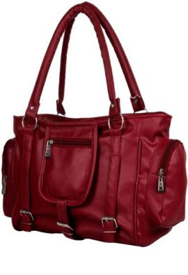 Maroon Cool Fit Satchel Shoulder Handbag