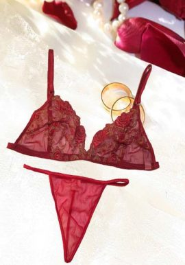 Be My Valentine Gift Set(Lace Bra+Lace G-String)