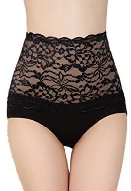 Bridal Lace High Waist Tummy Flabby Control Shapers Panty