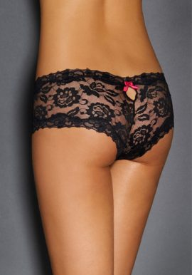 Secret Lace Boyshort With Keyhole Detail