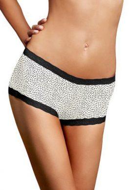 La Senza Black & White Plus Size Lace Boyshort Panty