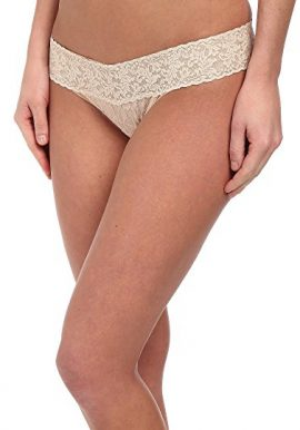 No Secret Light Cream V Shape Lace Waistband Thong Panty