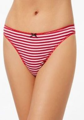 Secret Possessions Stripes Print Sexy Tanga Thong