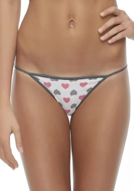 Secret Possessions Trimmed Printed String Bikini Panty